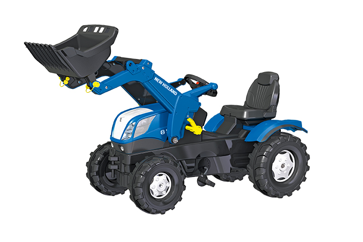 Rollytoys New Holland T7 Farmtrac tractor met voorlader