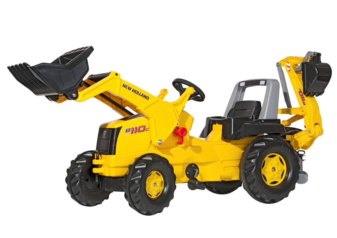 Rollytoys rollyJunior New Holland Construction met voorlader en graafarm