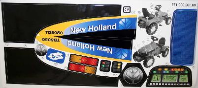 Stickervel Rollytoys New Holland TD5050 (R036219)